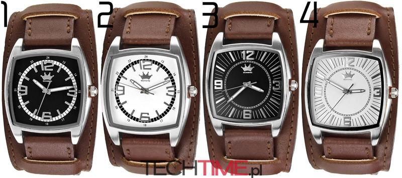 duży zegarek damski szeroki skórzany pasek