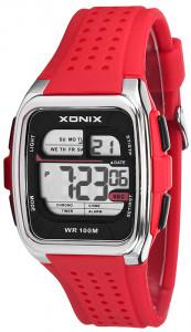 ca5b8a20afbc45 Sportowy Prostokątny Zegarek Elektroniczny XONIX – Męski i Dla Nastolatka -  Wodoszczelny 100m, Wielofunkcyjny - Stoper Alarm Timer Druga Strefa Czasowa