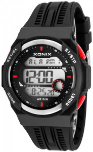Męski I Młodzieżowy Zegarek XONIX - WR100M, 3x Interval Timer, 15x Lap Memory, World Time, 5x Single Alarm, 3x Daily Alarm, EL Light